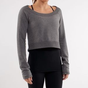 Lululemon Cropped Sweater / Pullover - Grey